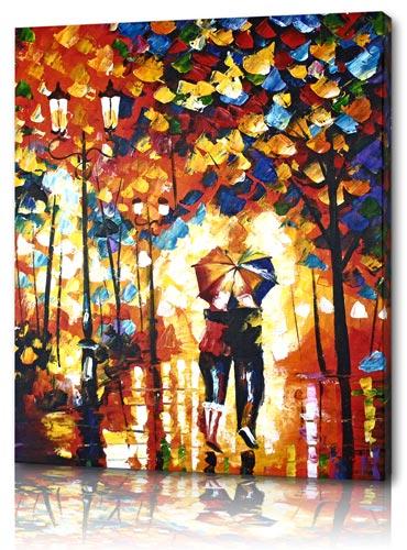 Oljemålningar av romantiska par