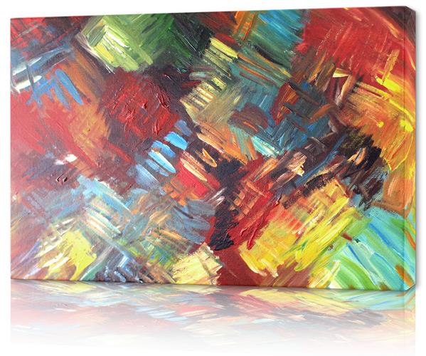 stor färgglad tavla
